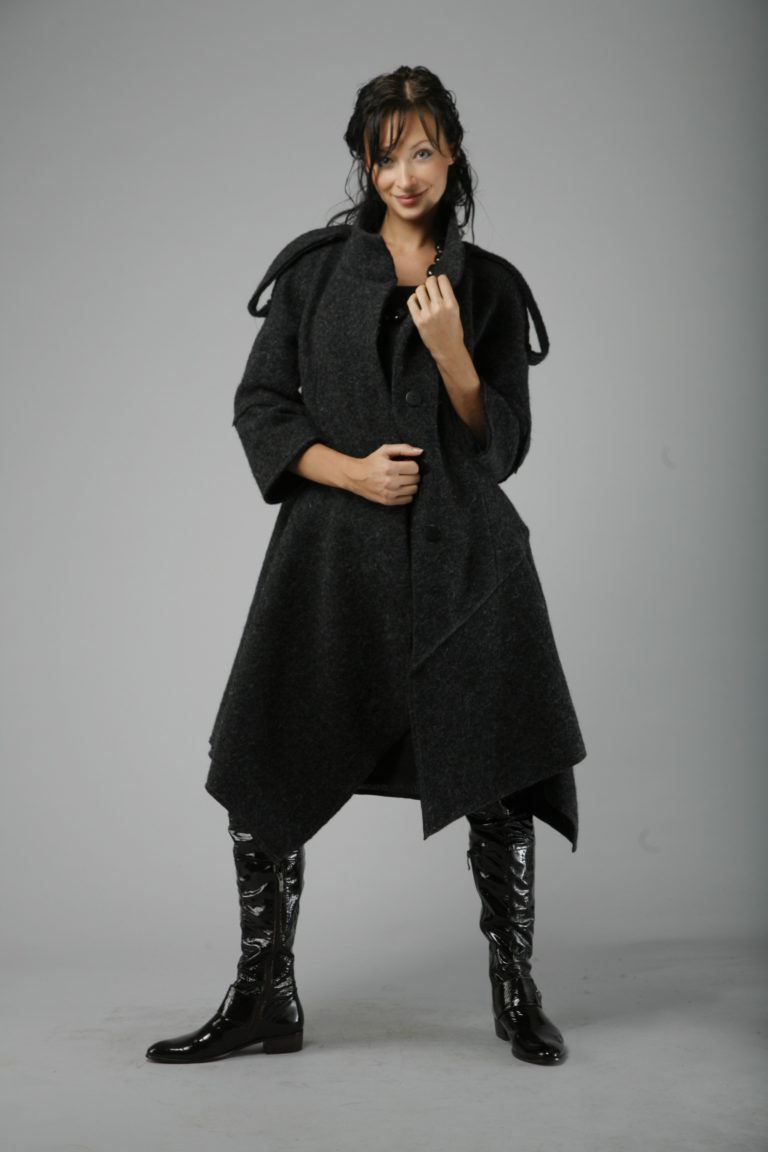 лекала пальто из шерсти