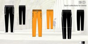 Эскизы спортивной одежды брюки