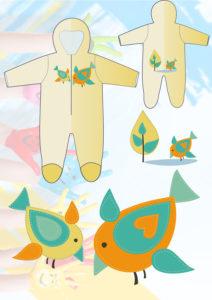 эскиз детской одежды