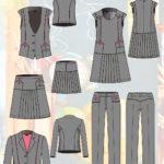 эскизы школьной одежды